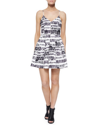 Juliet Graphic Racerback Dress, Cosmos