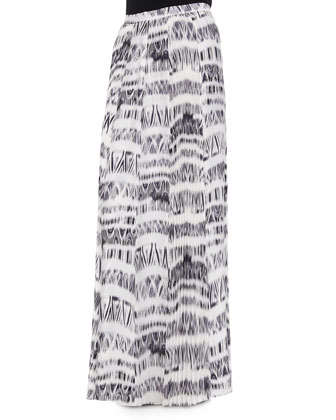 Topanga Graphic Pleated Skirt, Cosmos