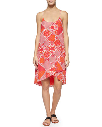 Ondria Patchwork-Print Sleeveless Dress