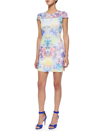 August Ponte Kaleidoscope Sheath Dress, Arcadi