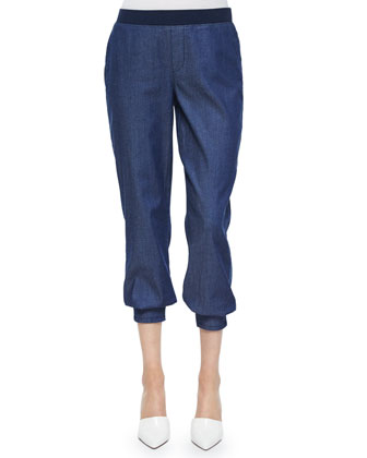 Darla Denim Track Pants