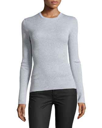 Long-Sleeve Top, Heather Gray