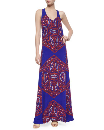 Fez Kaleidoscope Maxi Dress, Royal
