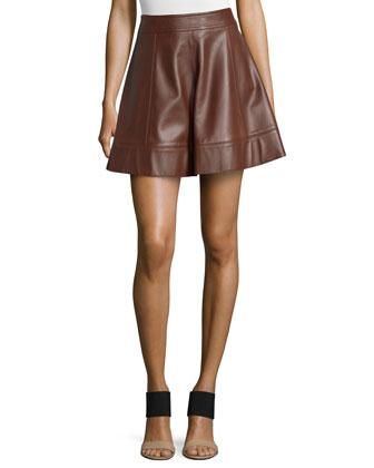 Flirt A-Line Skirt, Nutmeg