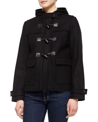 Toggle Closure Jacket, Black