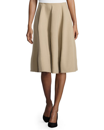 Pleated Circle Skirt, Sand