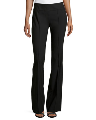 Side Zip Flare Pants, Black