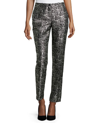 Samantha Skinny Pants, Black/White