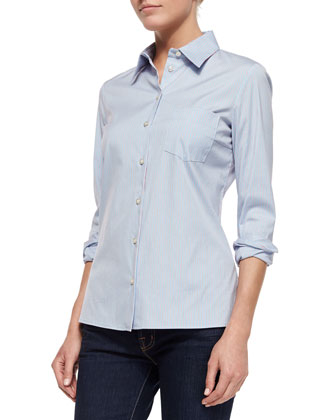 Classic Button-Down Shirt, Ice Stripe