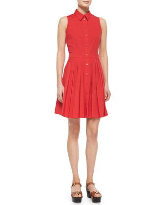 Sleeveless Shirtdress, Scarlet