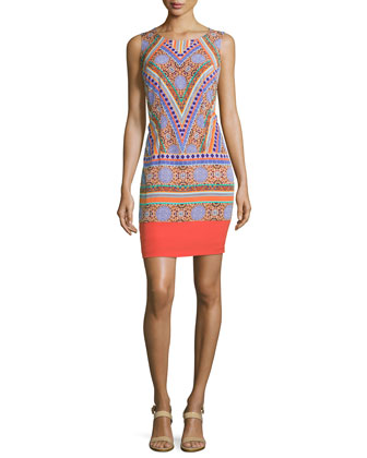 Amber Sleeveless Printed Shift Dress