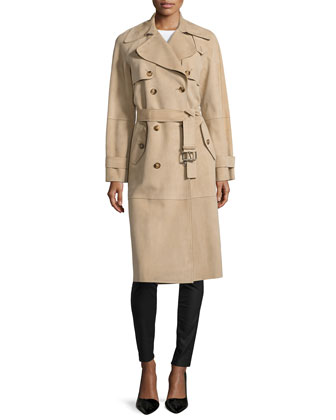 Double-Breasted Trench Coat, Sand