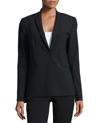 Darcy One-Button Jacket, Charcoal/Black