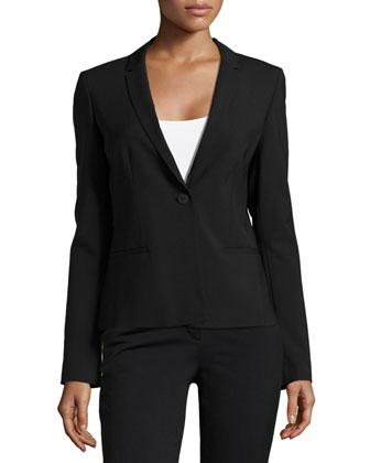Alma One-Button Jacket, Black