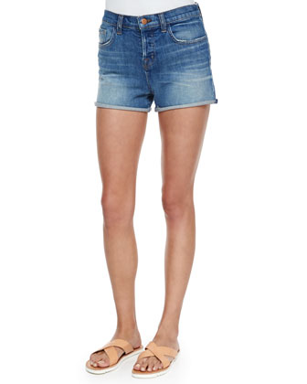 Gracie High-Rise Cuffed Shorts, Jagger