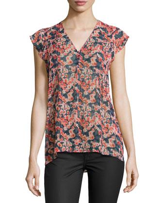 Macy B Floral-Print Blouse