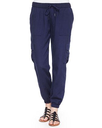 Markell Cargo-Pocket Jogger Pants