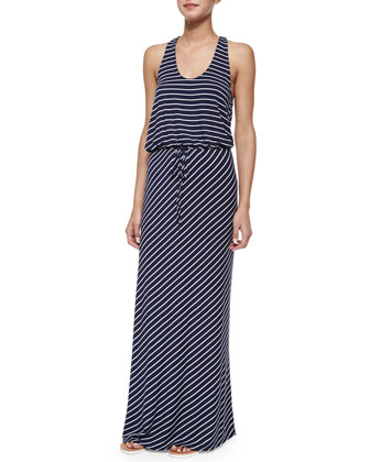 Maribel Striped Tie-Waist Maxi Dress