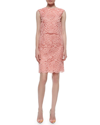 Sleeveless Lace Popover Dress
