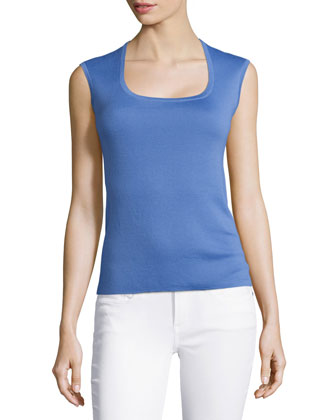 Cap-Sleeve Top, Sky