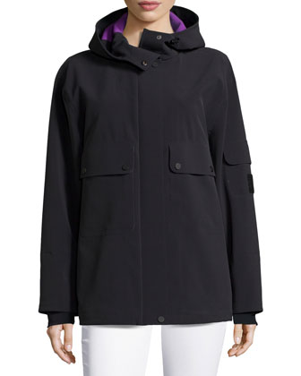 Performance Shell Hooded Jacket, Black