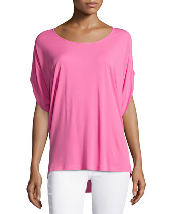 Short-Sleeve Top, Carnation