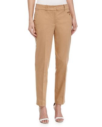Samantha Skinny Ankle Pants, Suntan