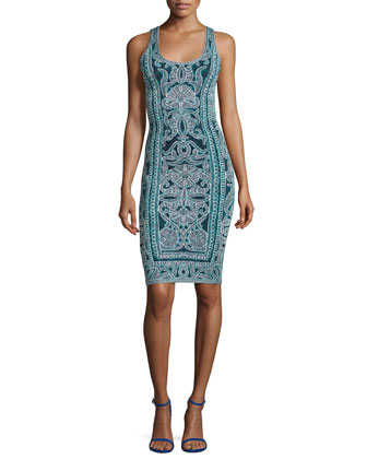 Jacquard Sheath Tank Dress