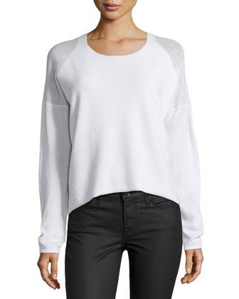 Oversized Plush Blend Sweater, Dove