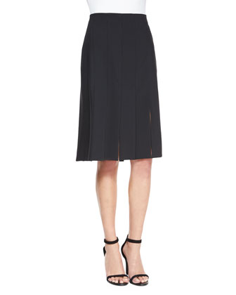 Off-the-Shoulder Jersey Top & Cuarteto Carwash-Hem Skirt
