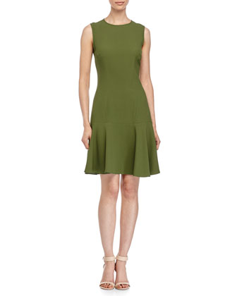 Sleeveless Circle Dress, Grass