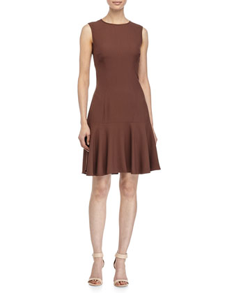 Sleeveless Circle Dress, Nutmeg