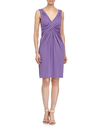 Crisscross-Front Dress, Hyacinth