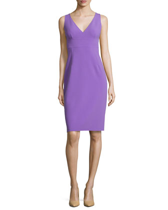 Sleeveless Sheath Dress, Hyacinth
