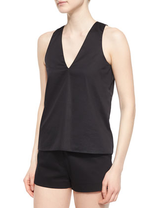 Norman Silky Jersey Top