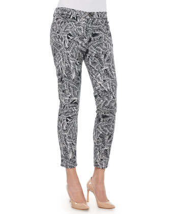 Fiji Printed Cropped Skinny Jeans