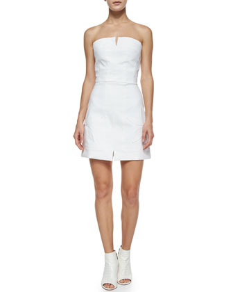 Strapless Cotton-Stretch Date Dress