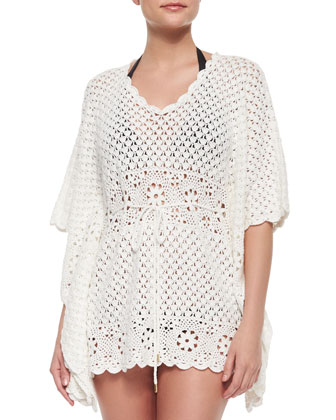 V-Neck Crochet Tunic