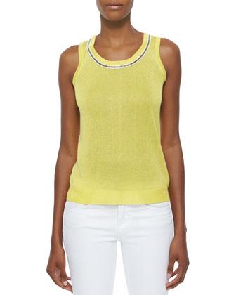 Bead-Trim Shell, Yellow