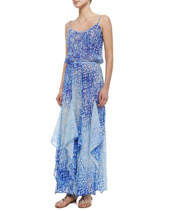 Sorrento Printed Flutter Dress