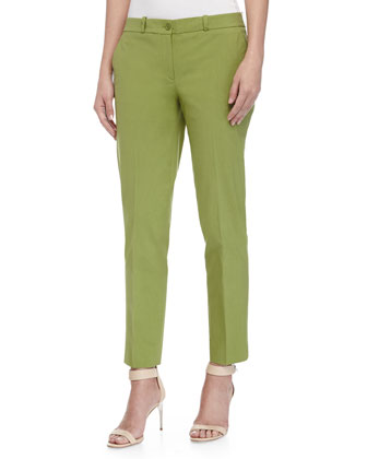 Samantha Shantung Skinny Pants, Foliage