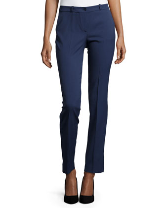 Samantha Shantung Skinny Pants, Oxford