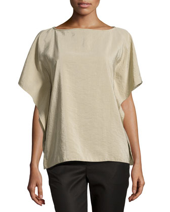 Butterfly-Sleeve Tunic, Sand
