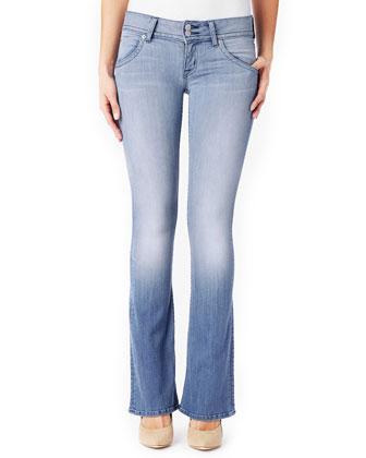 Signature Boot-Cut Denim Jeans, Seized