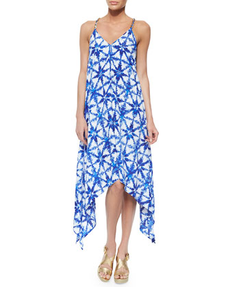 Glazed Tile High-Low Dress