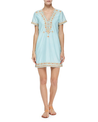 Majira Embroidered Cotton-Blend Dress, Alight
