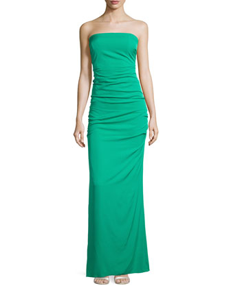 Strapless Ruched Gown, New Pacific