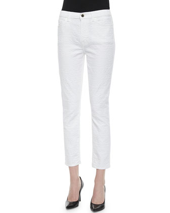 Jacquard Cropped Skinny Jeans