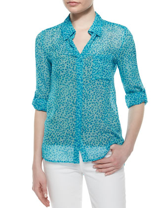 Lorelei Two Petal Dreams Blouse, Blue