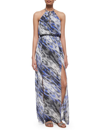 Lisbon Striped Maxi Dress, Bay Breeze